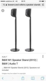 2 x Bowers and Wilkins M1 Speaker Stands