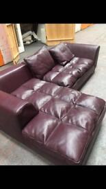 Leather Italian sofa