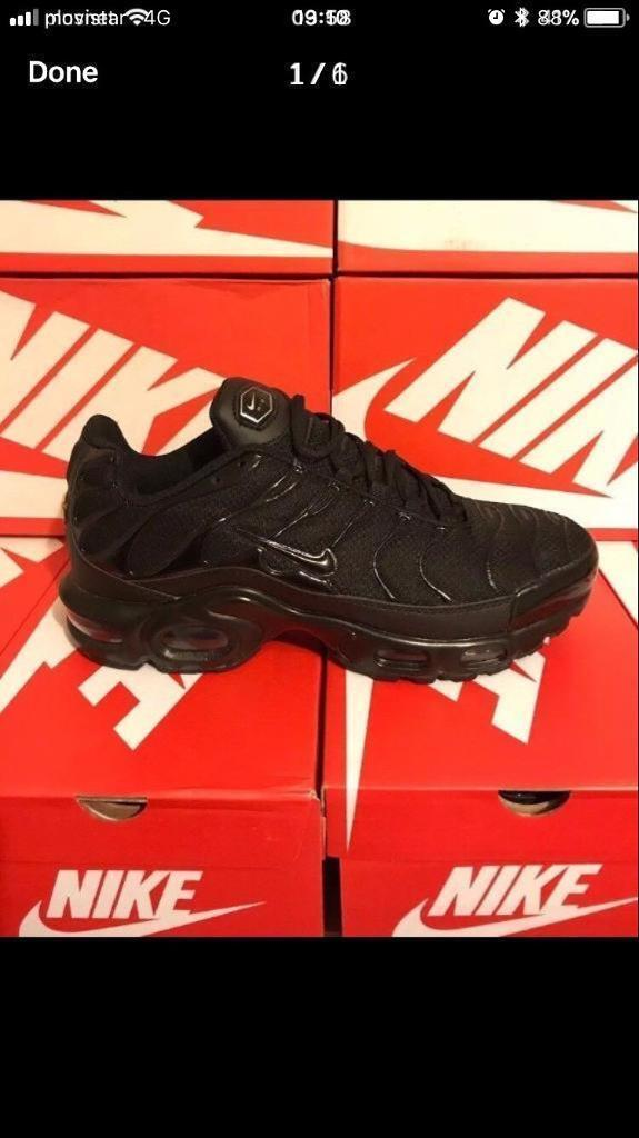 529ddb7c1cf4 Nike tns All Black  reduced for this weekend only  New In Box
