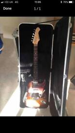 Aria STG Electric Guitar and hard coffin case