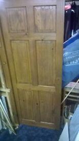 Internal dark wood door, 30 inch width