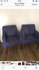 Two high quality heavy chairs