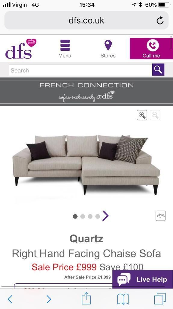 d697a74df58 DFS French Connection 4 and 3 seater sofas for sale | in Clydebank ...