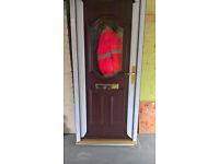 Spectus Rosewood Double Glazed UPVC Door