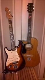 left hand guitars for sale, westfied electric, and semi- accoustic encore