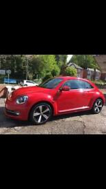 Red vw beetle 1.2 tsi design petrol