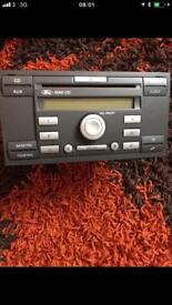 Ford Fiesta Focus C-Max Kuga Galaxy Transit Radio Stereo 6000 AUX CD Player with CODE