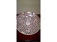 Stunning Purple & Silver Mosaic Bowl- large - Handcrafted