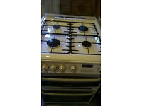 CANNON GAS COOKER DOUBLE OVEN 60 CM WHITE COLOR...free delivery