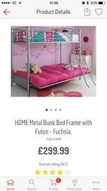 Bunk bed, sofa underneath turns into double bed