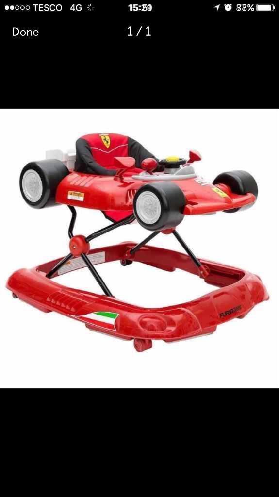 Used licensed Ferrari walker excellent conditokn