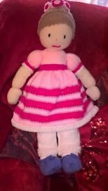 Hand crafted Large rag doll style doll