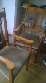 Queen Chairs with arm rests