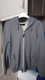 Men's/boy's Pale Grey Fred Perry hoodie, size Small