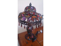NEW BRONZE JEWELLED MOROCCAN TABLE LAMP