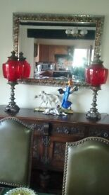 PAIR OF VICTORIAN STYLE ELECTRIC LAMPS LIGHTS