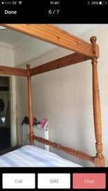 Solid pine 4 poster bed