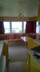 Winter Let in 4 berth caravan, Perranporth, lovely sea views, large veranda