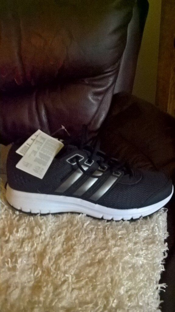 size 8 black adidas trainers brand new in box