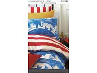 Joules circus double bed reversible bedding