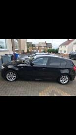 Black BMW 1 series 116 ,1.6 petrol 57 plate
