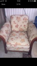 Armchair seat bronze chair is in great condition