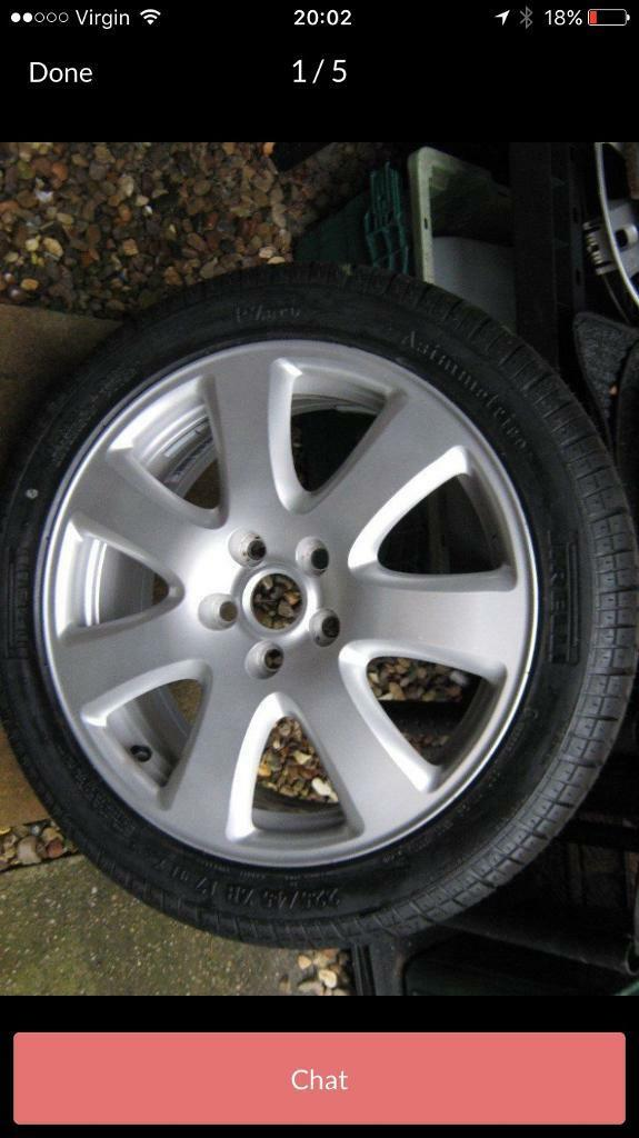 Wanted jaguar x type aloy and tyre