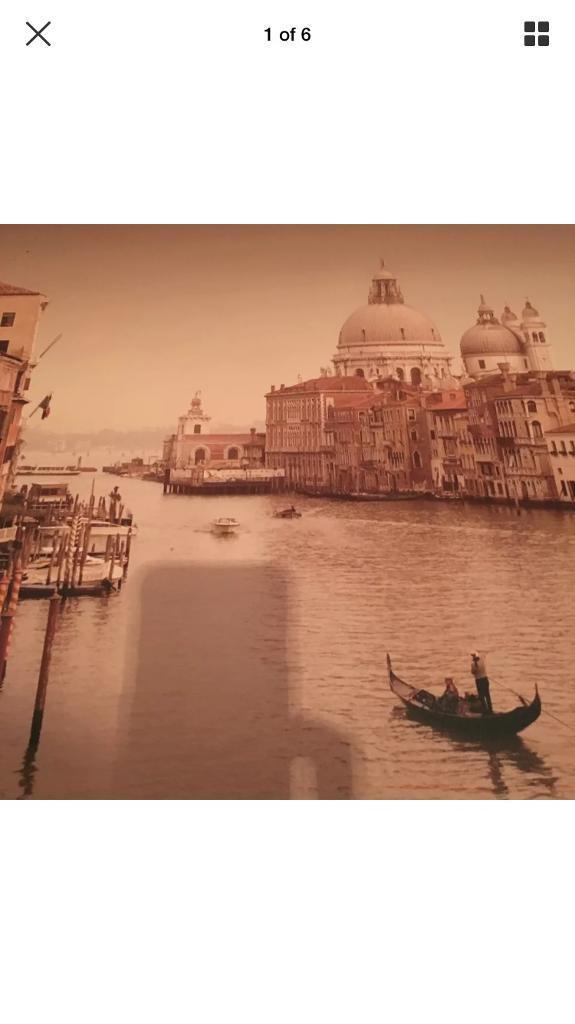 Beautiful large canvas ready too hang. Venice.