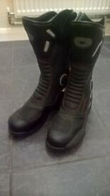 Leather Touring Motorcycle Boots, size 10