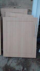 Kitchen unit doors - light oak effect