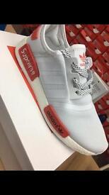 Adidas NMD Supreme: grey/red size 7