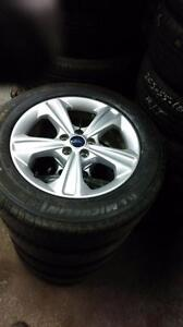 235 55 17 tires on OEM Ford Escape alloy rims 5 x 108 / TPMS -- $999 /// \\\ Rims only $500 / TPMS $100 set 4