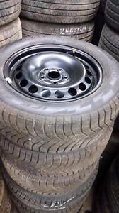 215 55 16 PIRELLI WINTER ICE ZERO FR on Brand New OEM VW Passat steel rims 5 x 112