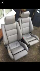 Bmw e30 front grey leather seats