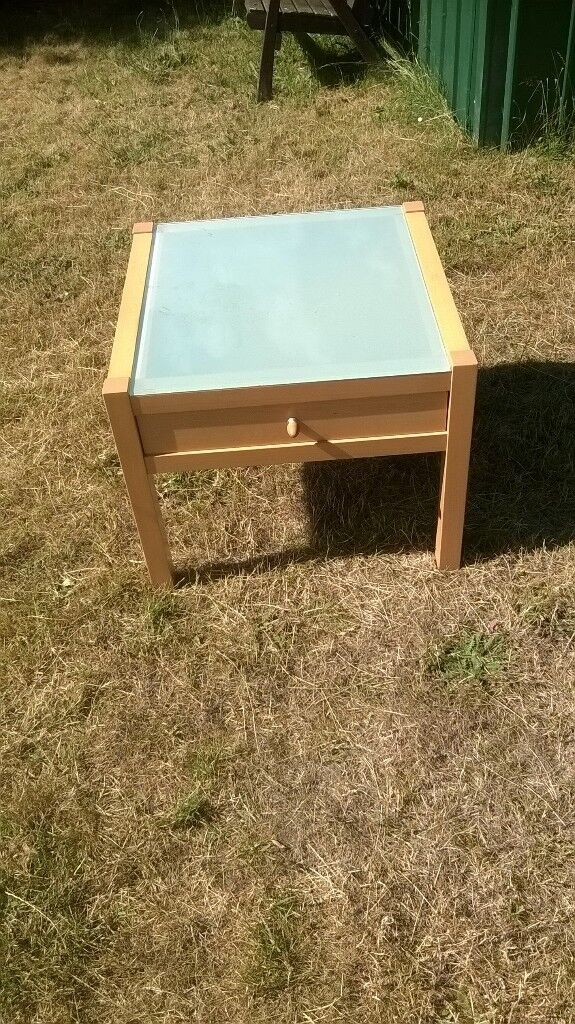 Ikea Side Table Glass Top Also A Tv Unit From Argos In Woodbridge