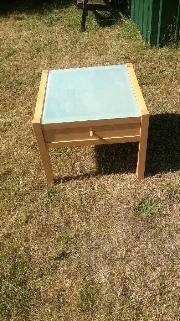Ikea Side Table Glass Top Also A Tv Unit From Argos In Woodbridge Suffolk Gumtree