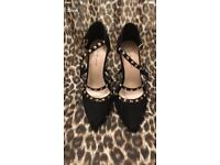 New look shoes - high heels with rock studs size 4