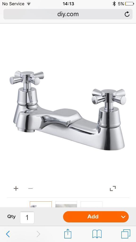 B&Q Crystal chrome bath mixer tap RRP £58