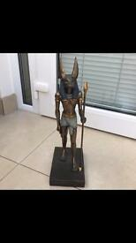 Egyptian themed Anubis statue