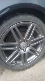 wheels with tyres for auldi or vw
