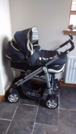 Babystyle Lux Pram including Carrycot, Pushchair, Car Seat & All Accessories