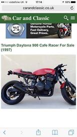Triumph Daytona cafe racer will take part ex