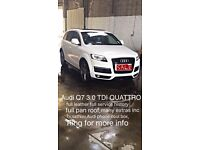 AUDO Q7 3.0TDI QUAttro full heated leather seats full history upgraded headlights and rear clean