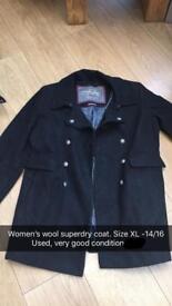 Women's wool superdry coat