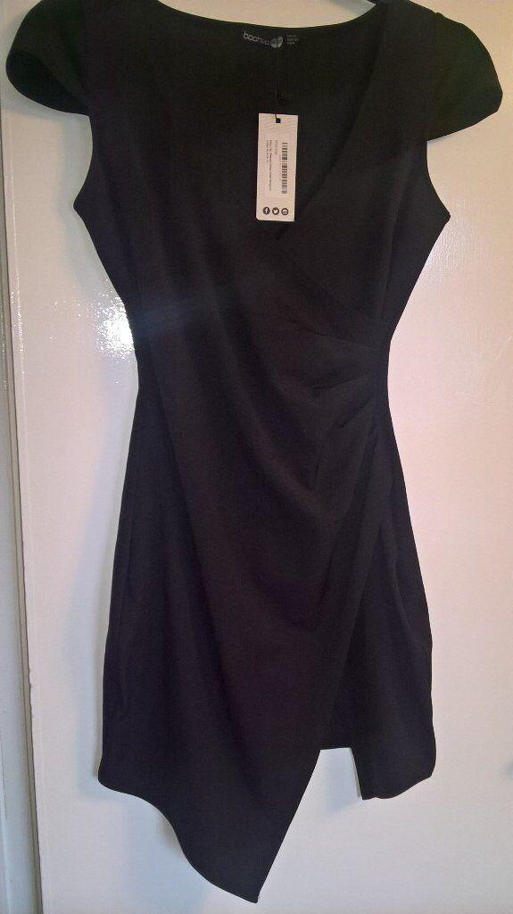 boohoo wrap dress size 12