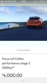 Ford Focus st3 Collins cp320 map £3500!