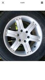 "Set of 4 shogun sport 18 "" alloys tyres"