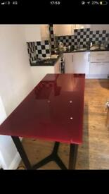 Habitat glass table / desk