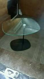 Small glass occasional table