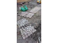4 Semi Circular Paving Carpet Stones